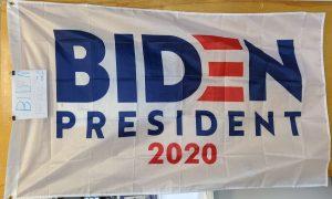 Biden President 2020 flag with white background