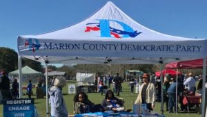 voter registration tent