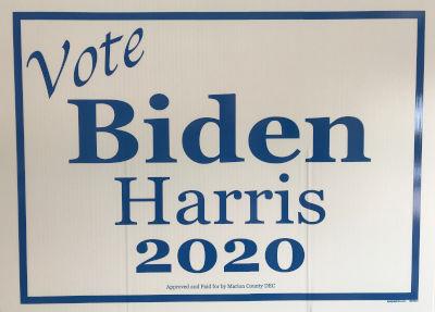 vote biden harris 2020 sign