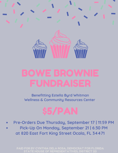 flyer for brownie fundraiser