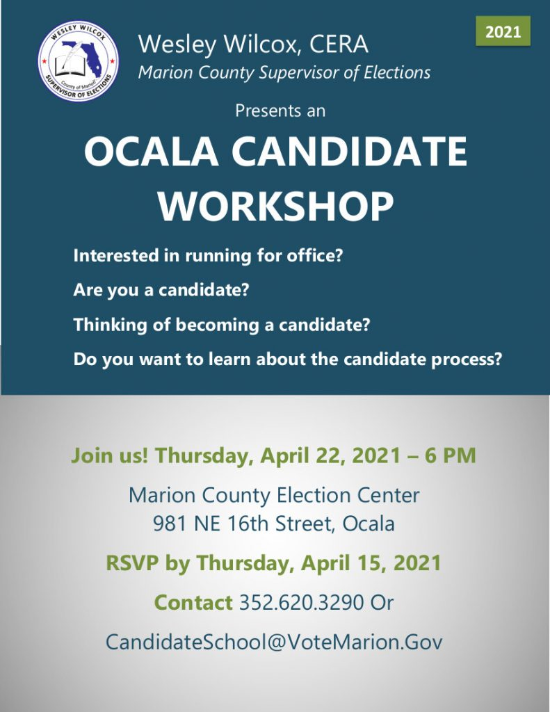 april 2021 ocala candidate workshop flyer
